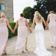Rustic Barn Wedding with pale pink bridesmaids