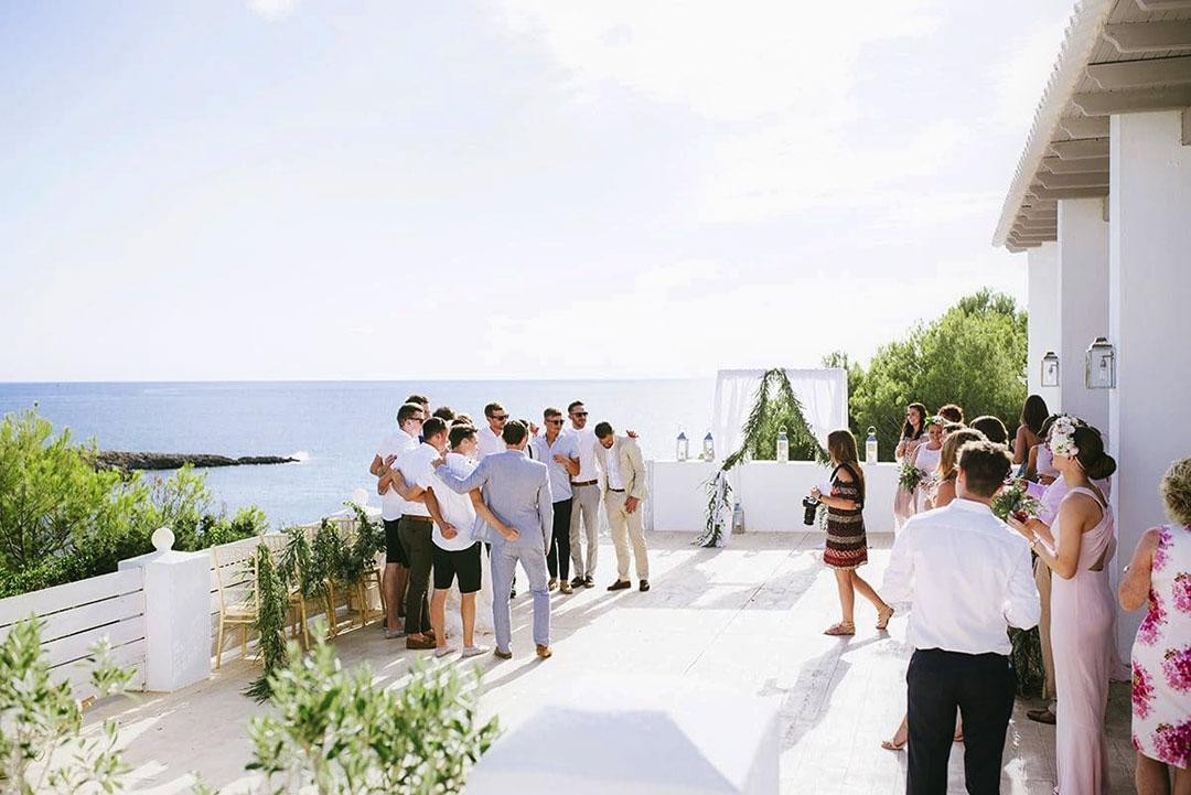 Destination wedding behind the scene