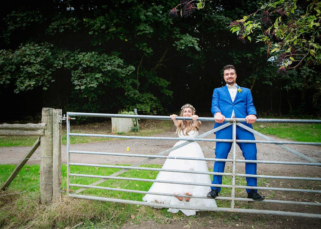 Festival style outdoor wedding in Hertfordshire
