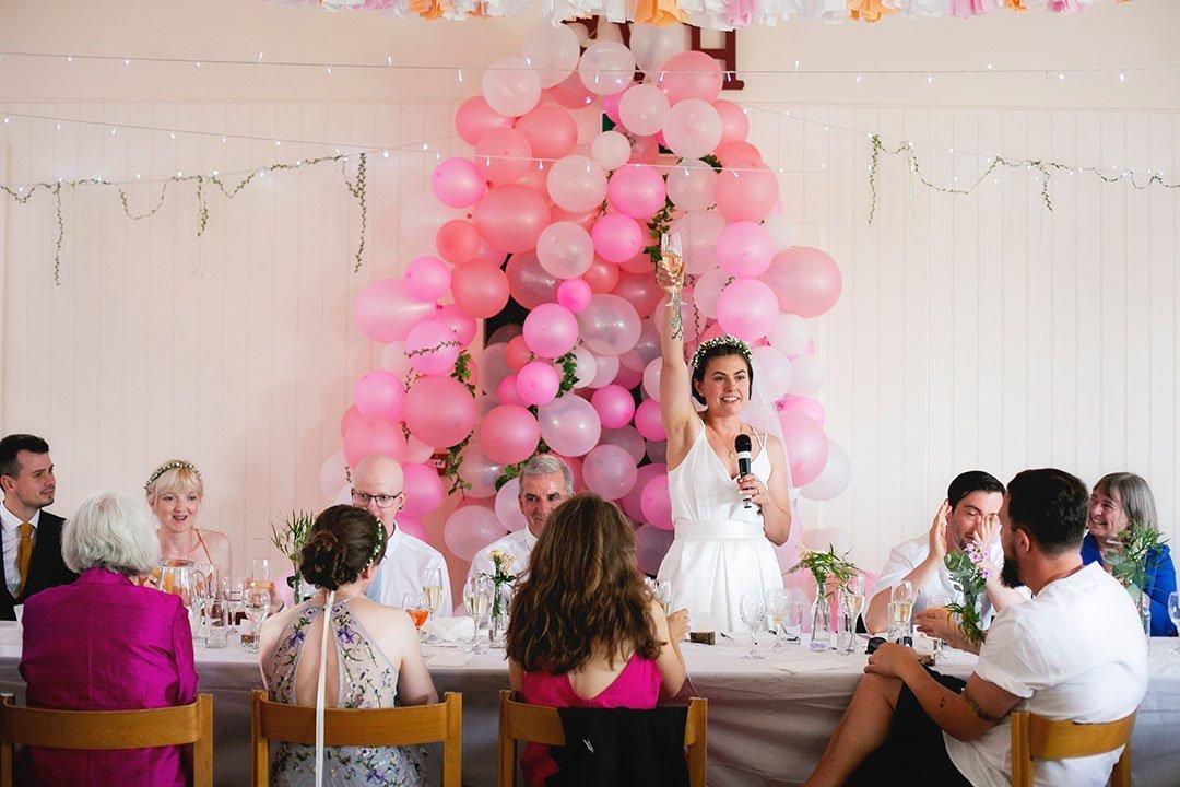 Brides speech breaking wedding traditions