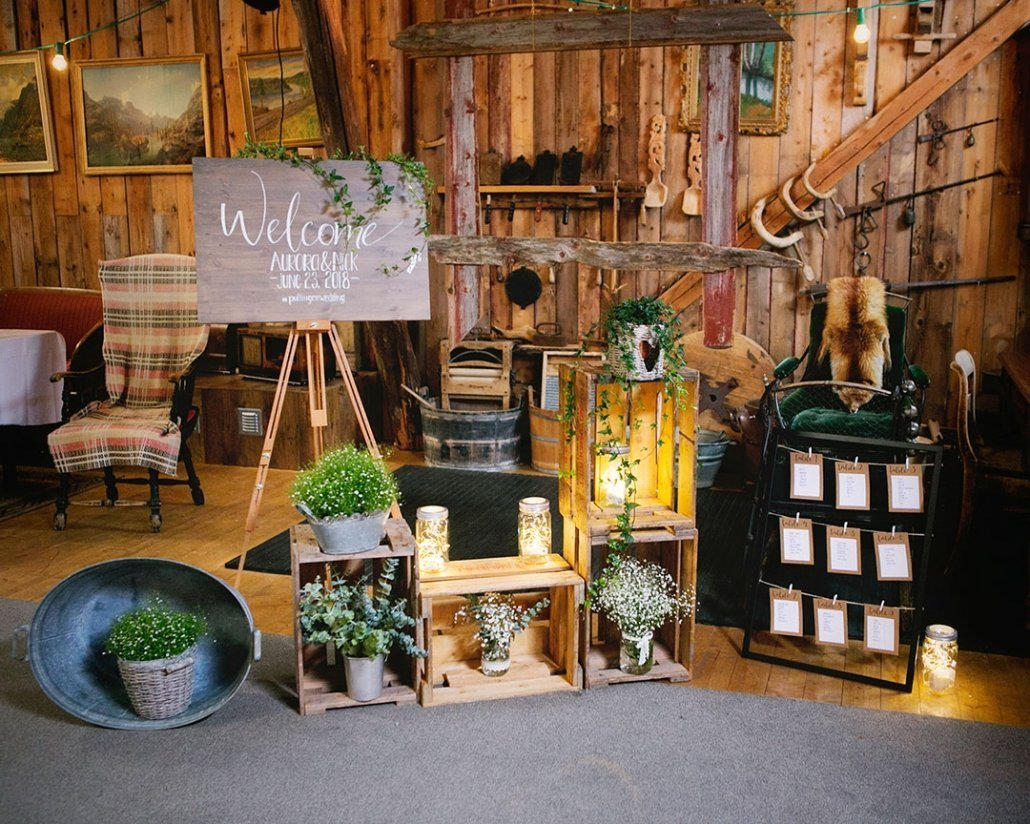 Beautifully staged wedding signage
