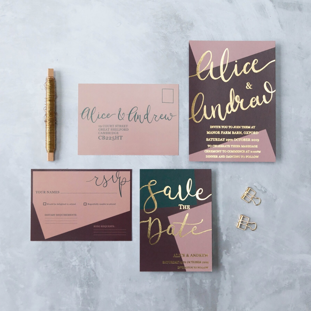 wedding stationary designer